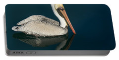 Portable Battery Charger featuring the photograph Pelican With Reflection by Bradford Martin