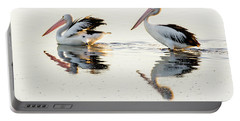 Pelicans At Dusk Portable Battery Charger by Werner Padarin