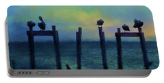 Pelicans At Sunset Portable Battery Charger