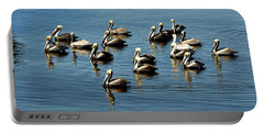 Pelicans Blue Portable Battery Charger