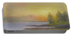 Pemaquid Beach Sunset Portable Battery Charger