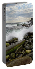 Portable Battery Charger featuring the photograph Pemaquid Point, Bristol, Maine  -60116 by John Bald
