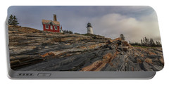 Pemaquid Point Cliffs Portable Battery Charger