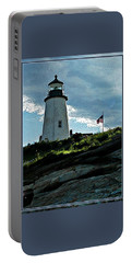 Pemaquid Point Lighthouse Portable Battery Charger by Joy Nichols