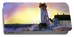 Pemaquid Point Lighthouse Maine Portable Battery Charger