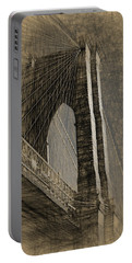 Pencil Sketch Of The Brooklyn Bridge Portable Battery Charger