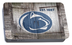 Penn State Football // Old Barn Doors Portable Battery Charger by Tim Miklos