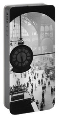 Penn Station Clock Portable Battery Charger by Van D Bucher and Photo Researchers