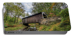 Pennsylvania Covered Bridge In Autumn Portable Battery Charger