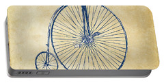 Penny-farthing 1867 High Wheeler Bicycle Vintage Portable Battery Charger by Nikki Marie Smith