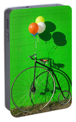 Penny Farthing Bike Portable Battery Charger by Garry Gay