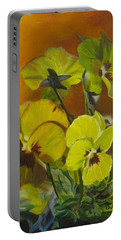 Pennys Up Close Revisited Portable Battery Charger by LaVonne Hand