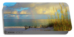 Pensacola Rainbow At Sunset Portable Battery Charger by Marie Hicks