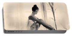 Pensive Ballerina Portable Battery Charger