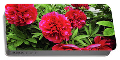 Peonies 1 Portable Battery Charger