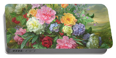 Peonies And Hydrangea Portable Battery Charger