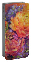 Peonies At Sunset Portable Battery Charger