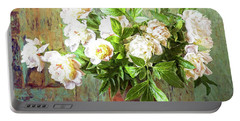 Peonies In A Vase Portable Battery Charger