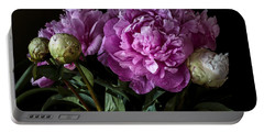 Peonies Still Life Portable Battery Charger