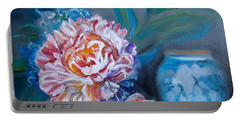 Peony And Chinese Vase Portable Battery Charger