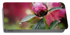 Peony Bud And  Refractions Portable Battery Charger