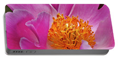 Pink Flower Peony Garden Wall Art Portable Battery Charger