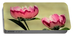 Peony Pair - Enhanced Portable Battery Charger by MTBobbins Photography