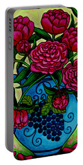 Peony Party Portable Battery Charger