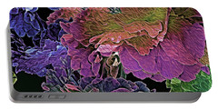 Peony Profusion 104 Portable Battery Charger by Lynda Lehmann
