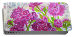 Peony Profusion Portable Battery Charger