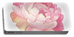 Portable Battery Charger featuring the painting Peony Watercolor  by Taylan Apukovska