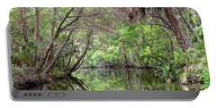 Portable Battery Charger featuring the photograph Pepper Creek Reflections by Carol Bradley