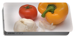 Pepper, Tomato And Garlic Portable Battery Charger