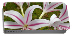 Peppermint Lilies Portable Battery Charger
