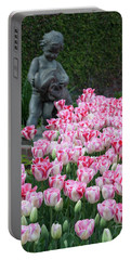 Peppermint Tulip Field Portable Battery Charger