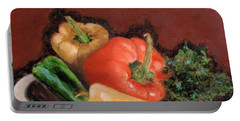 Peppers And Parsley Portable Battery Charger by Jamie Frier