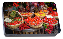 Peppers And Tomatoes Portable Battery Charger by Inge Johnsson