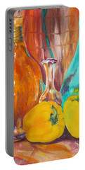 Peppers And Vases Portable Battery Charger by Lisa Boyd