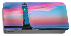 Perch Rock Sunset Portable Battery Charger by Brian Tarr