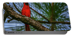 Perched Cardinal Portable Battery Charger