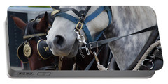 Portable Battery Charger featuring the photograph Percheron Horses by Theresa Tahara