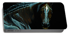 Percheron Mare In The Moonlight Portable Battery Charger
