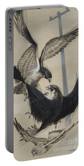 Peregrine Falcon And Kestrel Portable Battery Charger