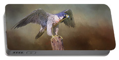 Peregrine Falcon Taking Flight Portable Battery Charger