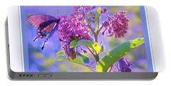 Portable Battery Charger featuring the photograph Perfect Butterfly Day by Shirley Moravec