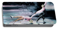 Olympic Figure Skating Paintings Portable Battery Chargers
