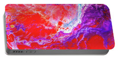 Perfect Love Storm - Colorful Abstract Painting Portable Battery Charger