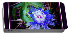 Perfect Purple Flower Hiding Portable Battery Charger