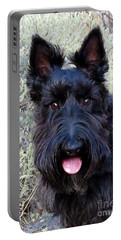 Scottish Terrier Portrait Portable Battery Charger