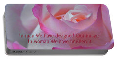Portable Battery Charger featuring the photograph Perfected In Woman by Agnieszka Ledwon